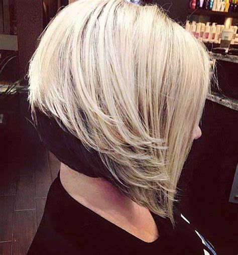 inverted layered bob with bangs shows off eyes really popular 15 inverted bob hairstyles short