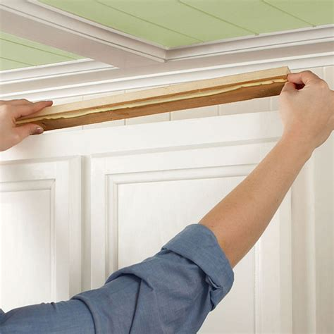 How To Put Crown Molding On Kitchen Cabinets Install Kitchen Cabinet Crown Moulding