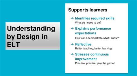 understanding by design key criteria understanding by design in english language teaching