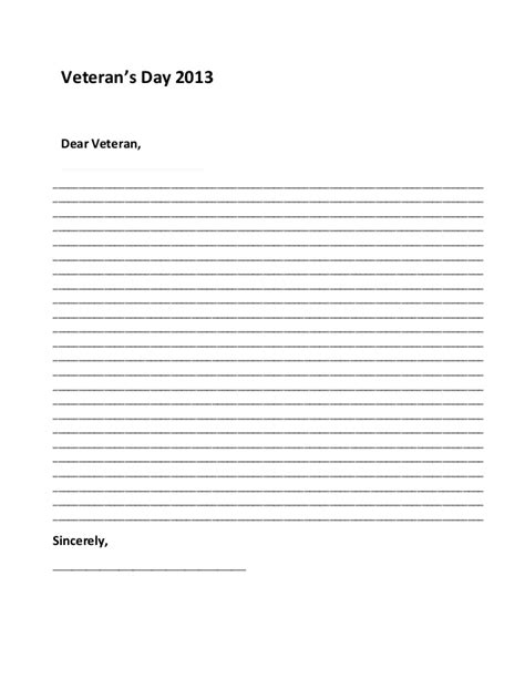 veterans day letter writing paper sle thank you letter to servicemen sle letter to