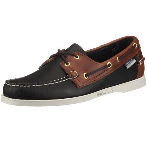 sebago mens spinnaker boat shoe in black for black