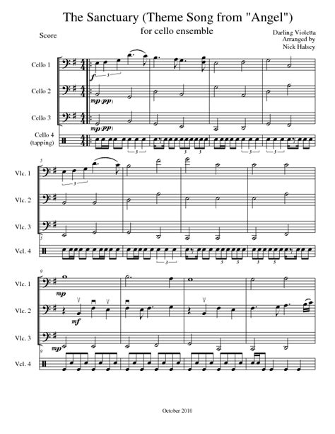 the sanctuary cello expressions sheet library