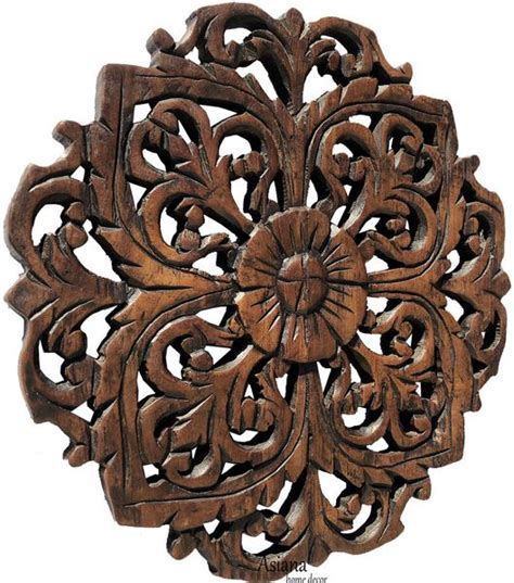 teak wood carved wall plaques floral wood wall panels