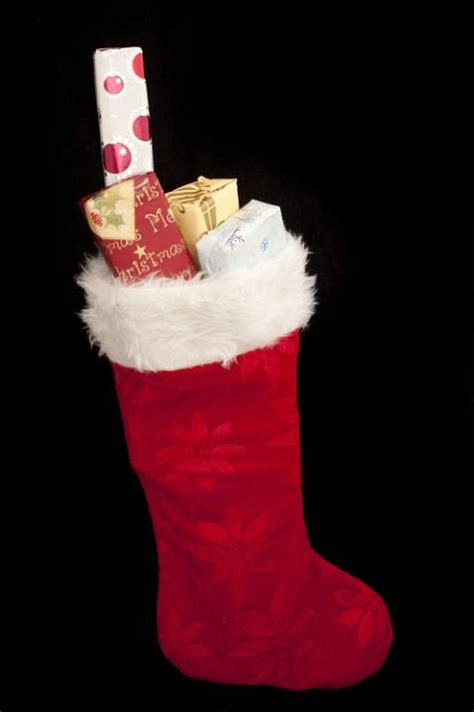 photo  standing stocking  presents  christmas images