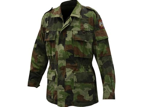 Jaket Parka Army Eagle surplus serbian camo field jacket