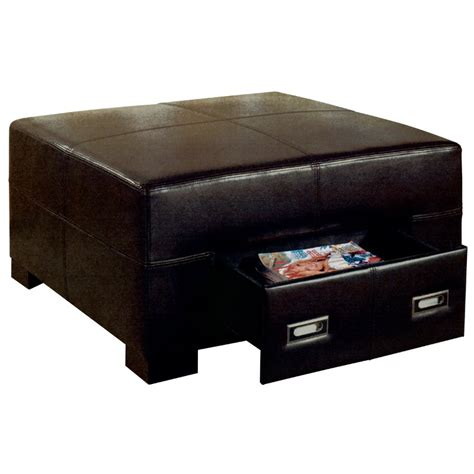 Black Ottoman 28 Images Agustus Black Leather Storage