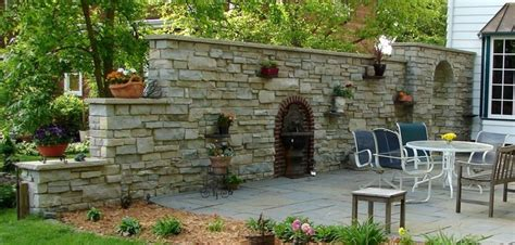 Decorative Garden Wall by Retaining And Decorative Walls Fences Columns And Gates