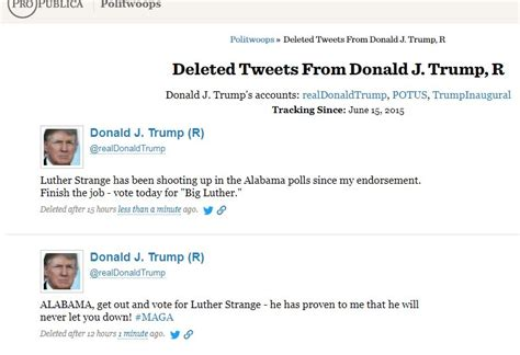 donald trump twitter deleted the immoral minority roy moore wins the alabama in runoff