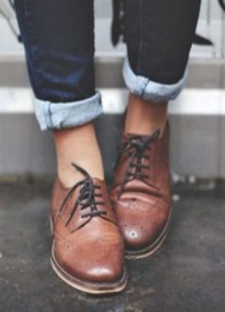 Sepatu Clarks Boots Brown shoes brown leather brogue shoes brogues lace up