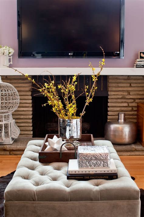 how to decorate an ottoman contemporary design ottoman coffee table scape just