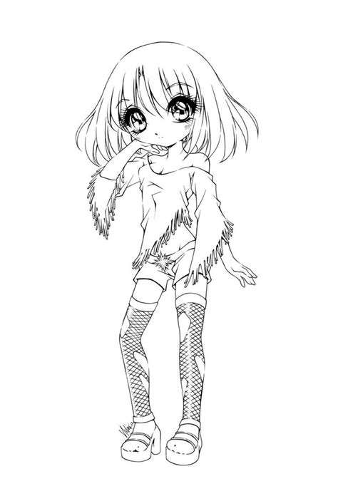 gothic anime neko coloring pages coloring pages