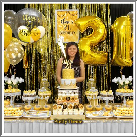gold themes name pretty theme event planner adult birthday bash