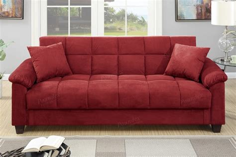 red futon couch red microfiber storage futon sofa bed