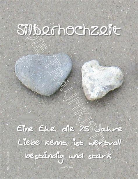 Karten Zur Silberhochzeit by Hochzeitskarten Silberhochzeit Karte Quot Herzduo Steine