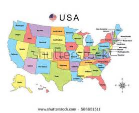 Map Of United States And Hawaii by Colorful Map United States America On Stock Vector