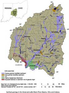 Little Miami River Map by Great And Little Miami River Basins Nawqa Indiana And