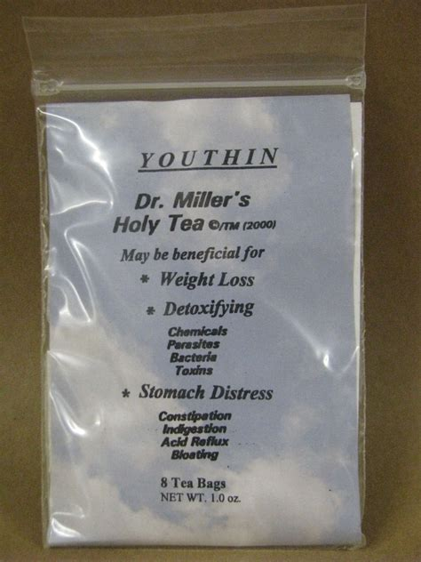 Holy Tea Detox by New Dr Millers Holy Tea 2 Month Supply 8 Tea Bags Detox