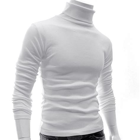 best cotton mens cotton roll turtle polo funnel neck top baselayer