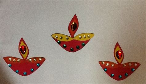 Diwali Paper Craft - my kidz creative express diwali craft by younger one