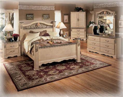sanibel  queen bedroom set signature design  ashley furniture