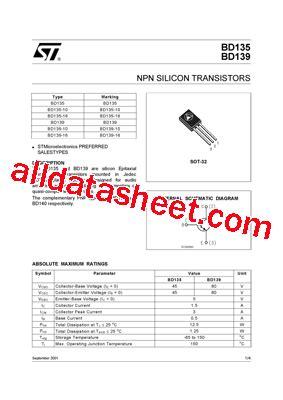 bd139 transistor description bd139 16 datasheet pdf stmicroelectronics