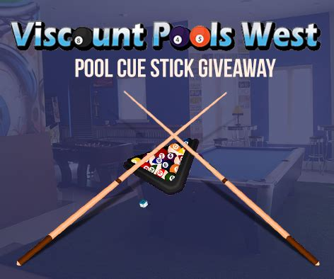 Pool Cue Giveaway - free pool cue stick giveaway in january 2015 from viscount west