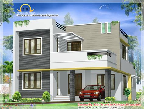 Modern Villa Plans by Contemporary Villa Design 1750 Sq Ft Home Appliance