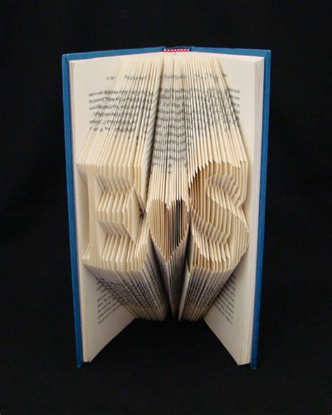 book origami letters folded book