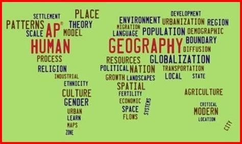 geography pattern words ap geography course overview
