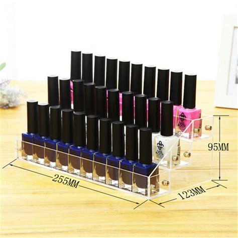 Tempat Kosmetik Lipstick Shelf Acrylic 3 layer acrylic makeup organizer nail display shelf jewelry cosmetic lipstick holder