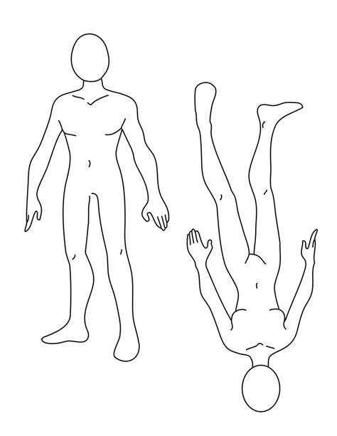 Human Outline Drawing Male Human Template