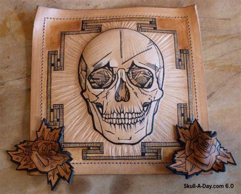 leather tattoo tattooed leather skulls