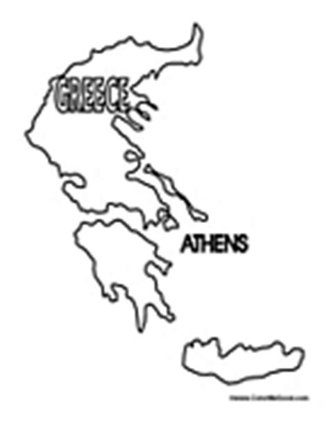 greek map coloring page coloring map of greece