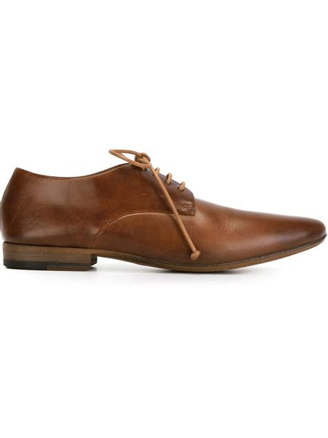 brown derby shoes mars 232 ll classic derby shoes in brown for lyst