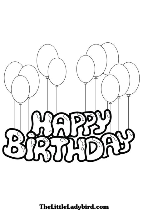 happy birthday coloring pages easy coloring pages free coloring pages of happy birthday mami