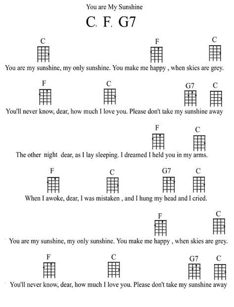 strumming pattern you are my sunshine ukulele tiki king s ukulele lesson page 6