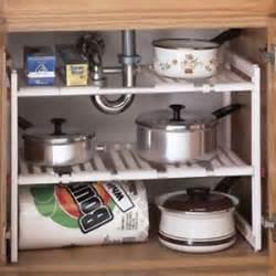 Under Cabinet Kitchen Storage Under Sink Expandable Shelf Cabinet Storage Kitchen