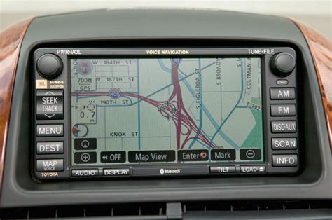 2008 toyota sienna navigation screen picture pic image