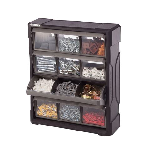 organizer bins husky 12 compartment small parts bin organizer 222171