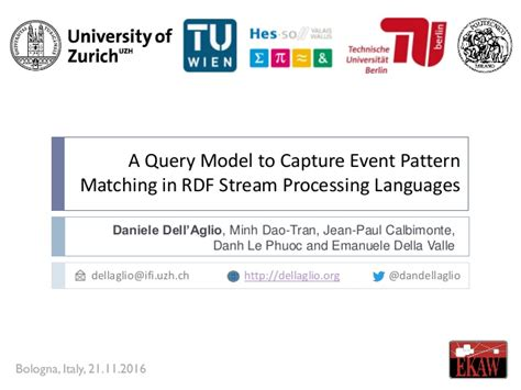 pattern matching languages rsep ql a query model to capture event pattern matching