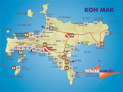 Beach House by Koh Mak Small Map 50 Koh Chang Guide