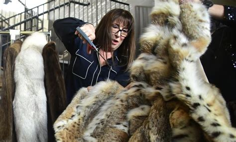 According To Peta All Animal Skin Is The Same by Anjelica Huston Cuts Up Fur Coats For Peta News