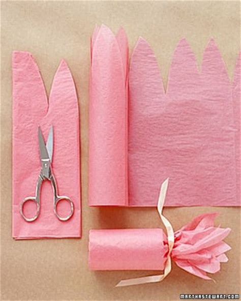 tissue gift wrap fill a toilet paper roll with and then wrap pink