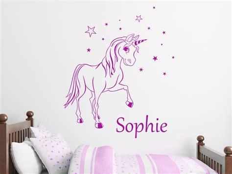 bilder kinderzimmer wandtattoo zauber pony mit wunschname wandtattoos de