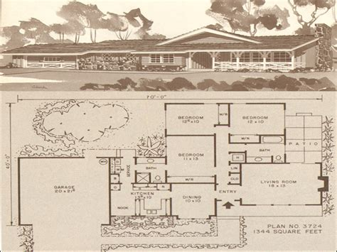 1950s ranch house plans ranch house plans 1950s 1960s ranch home house plans