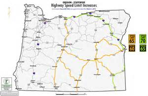 speed limits in map higher speed limits fewer places to pass on oregon