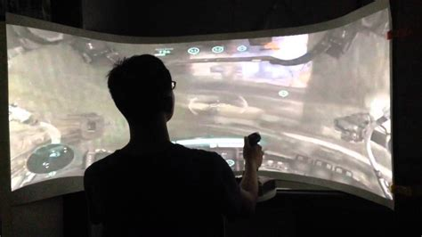 Personal 180 degree curved screen for gaming   YouTube