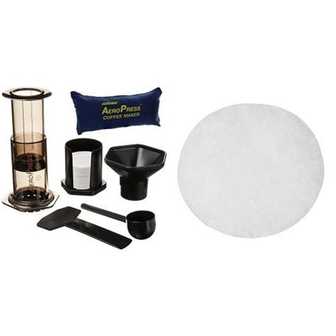 Aeropress Coffee Maker Plus Tote Bag With 350 Filters aerobie aeropress coffee maker with tote storage bag and filter papers pack of 350 kitchen