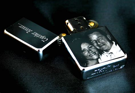 zippo style engraved photo lighter