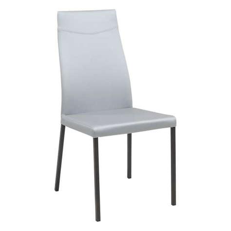 chaises sejour chaise de s 233 jour contemporaine en synth 233 tique lena 4